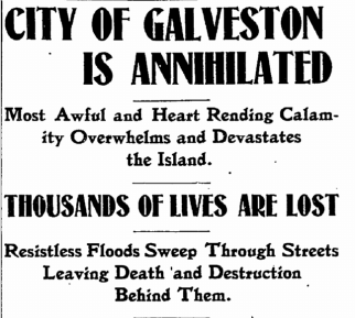 """City of Galveston is Annihilated"""
