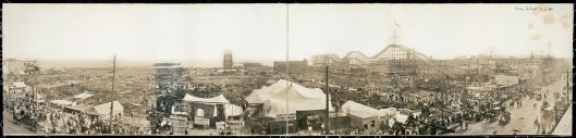 Panoramic view of Dreamland after the 1911 fire - Courtesy of the Library of Congress.