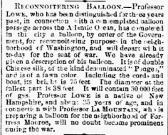 Mammoth balloon description - Philadelphia Inquirer, Aug. 8, 1861